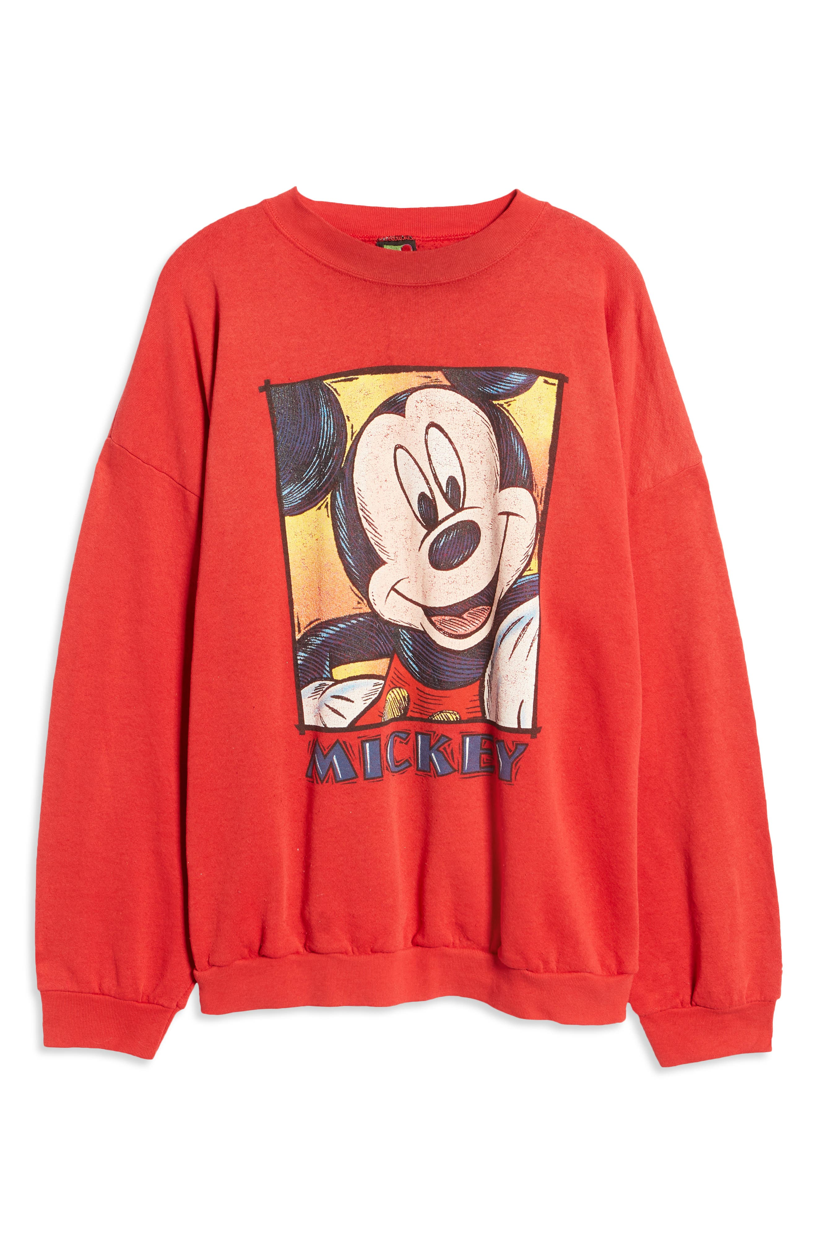 Unisex Secondhand Mickey Graphic Crewneck Sweatshirt