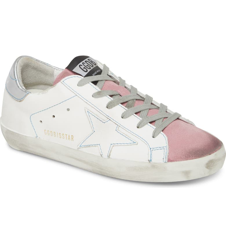 GOLDEN GOOSE Superstar Sneaker, Main, color, WHITE LEATHER/ PINK