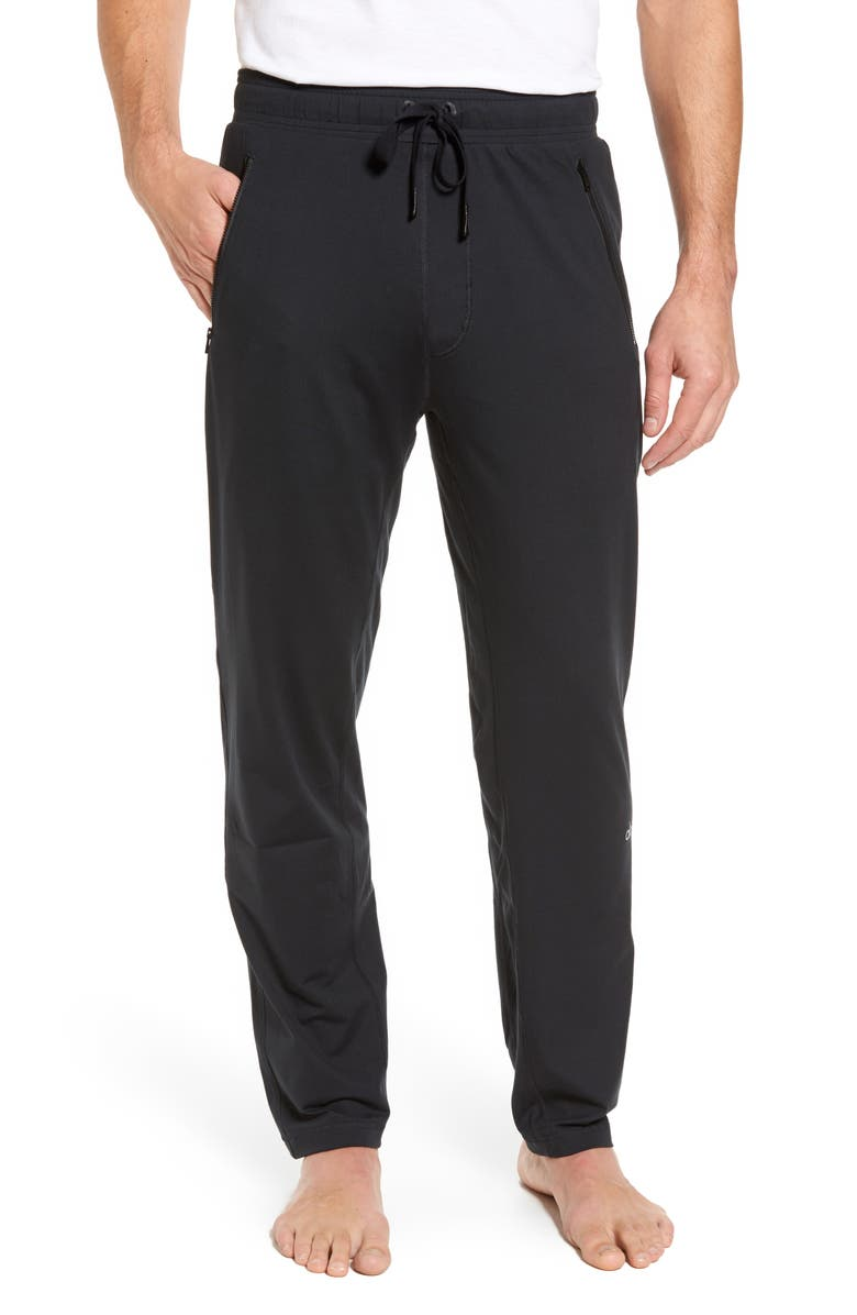 ALO Renew Relaxed Slim Fit Lounge Pants, Main, color, BLACK