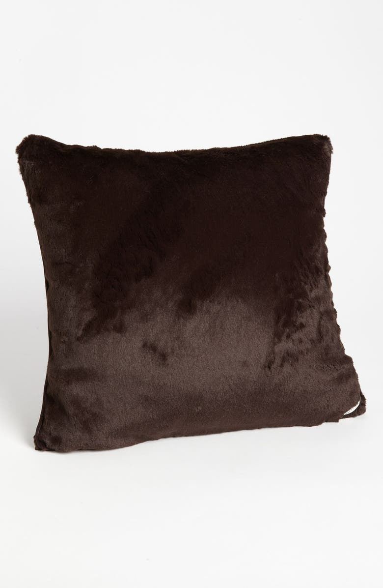 GIRAFFE AT HOME 'Luxe' Throw Pillow, Main, color, CHOCOLATE