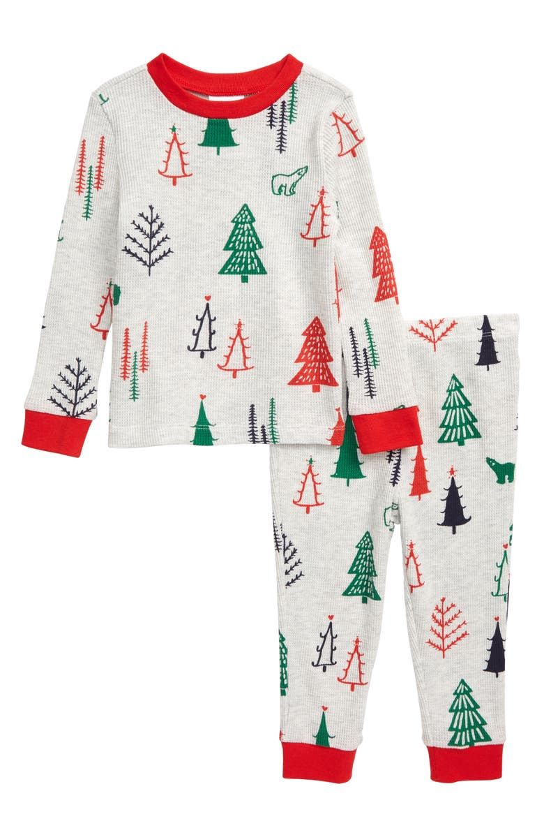 NORDSTROM Thermal Fitted Two-Piece Pajamas, Main, color, 050