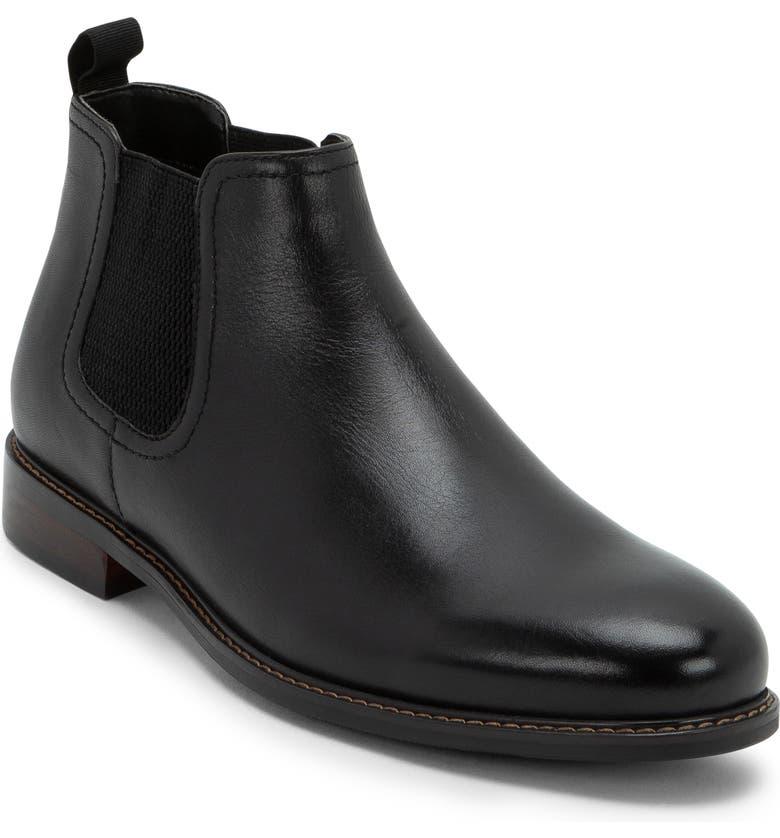 BLONDO Kai Waterproof Chelsea Boot, Main, color, BLACK LEATHER