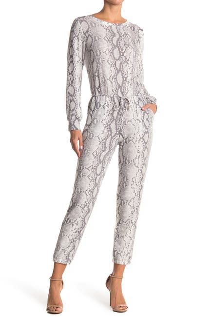 Image of Collective Concepts Snake Print Knit Jumpsuit