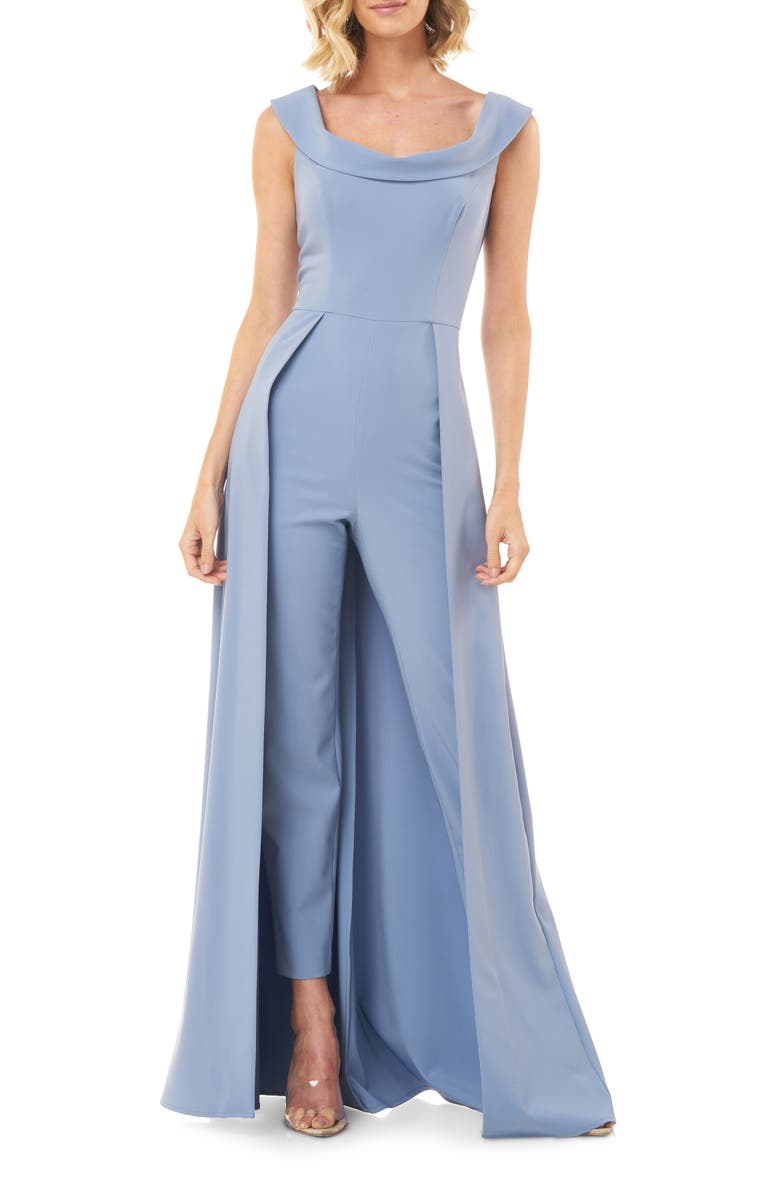 KAY UNGER Jumpsuit Gown, Main, color, DENIM