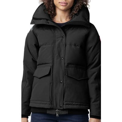 Canada Goose Deep Cove Arctic Tech Water Resistant 625 Fill Power Down Bomber Jacket, Black