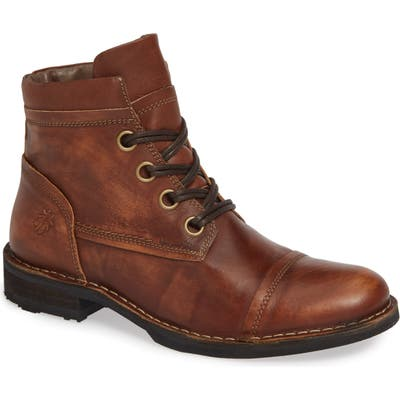 Fly London Rize Cap Toe Boot, Brown
