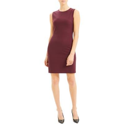 Theory Sleeveless Stretch Wool Sheath Dress, Red