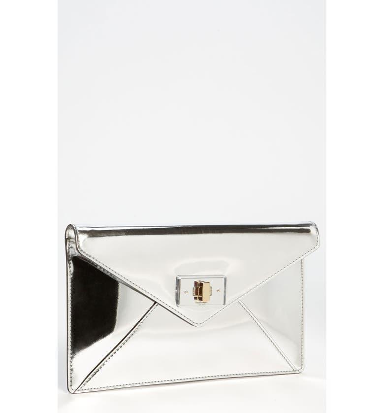KATE SPADE NEW YORK 'post street - little adair' envelope clutch, Main, color, 040