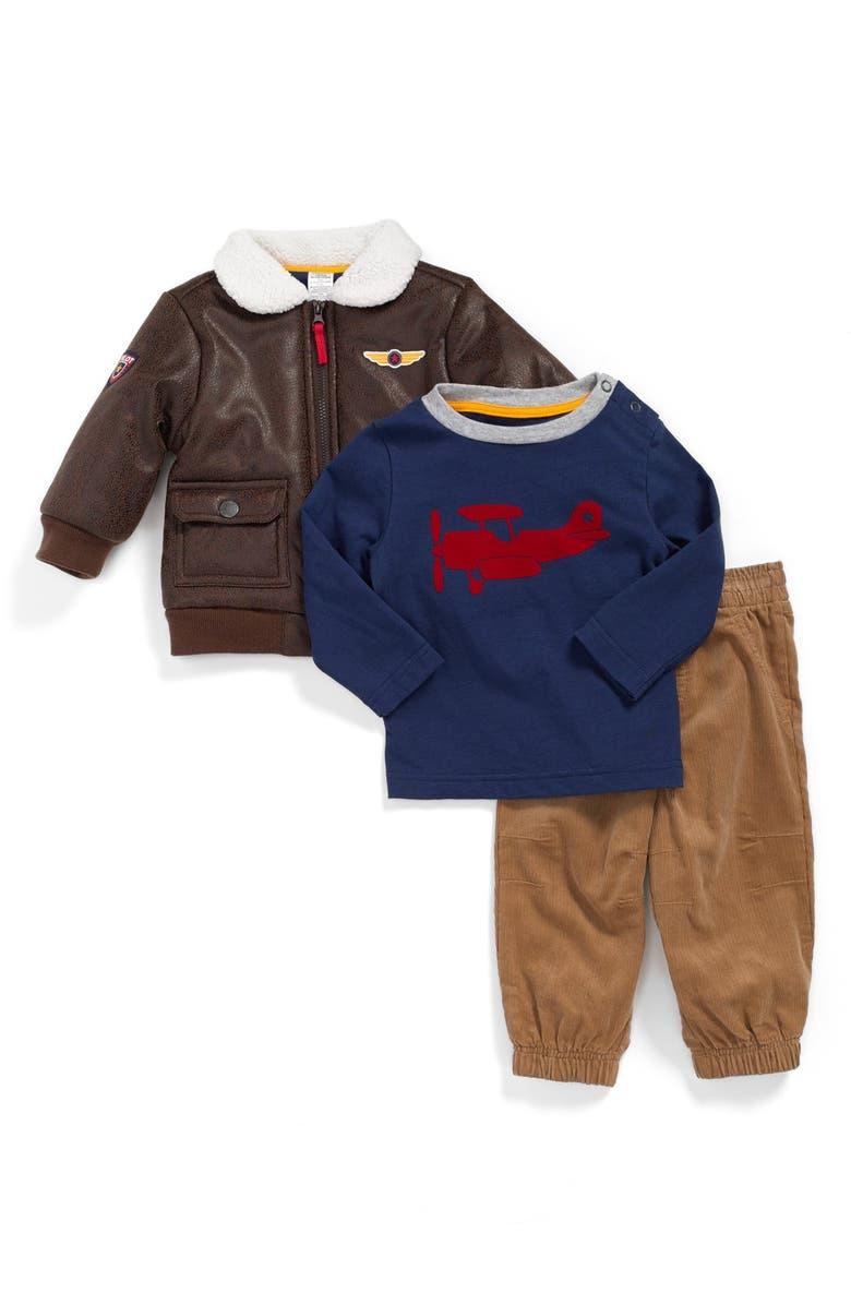 Little Me Aviator Bomber Jacket Graphic Shirt