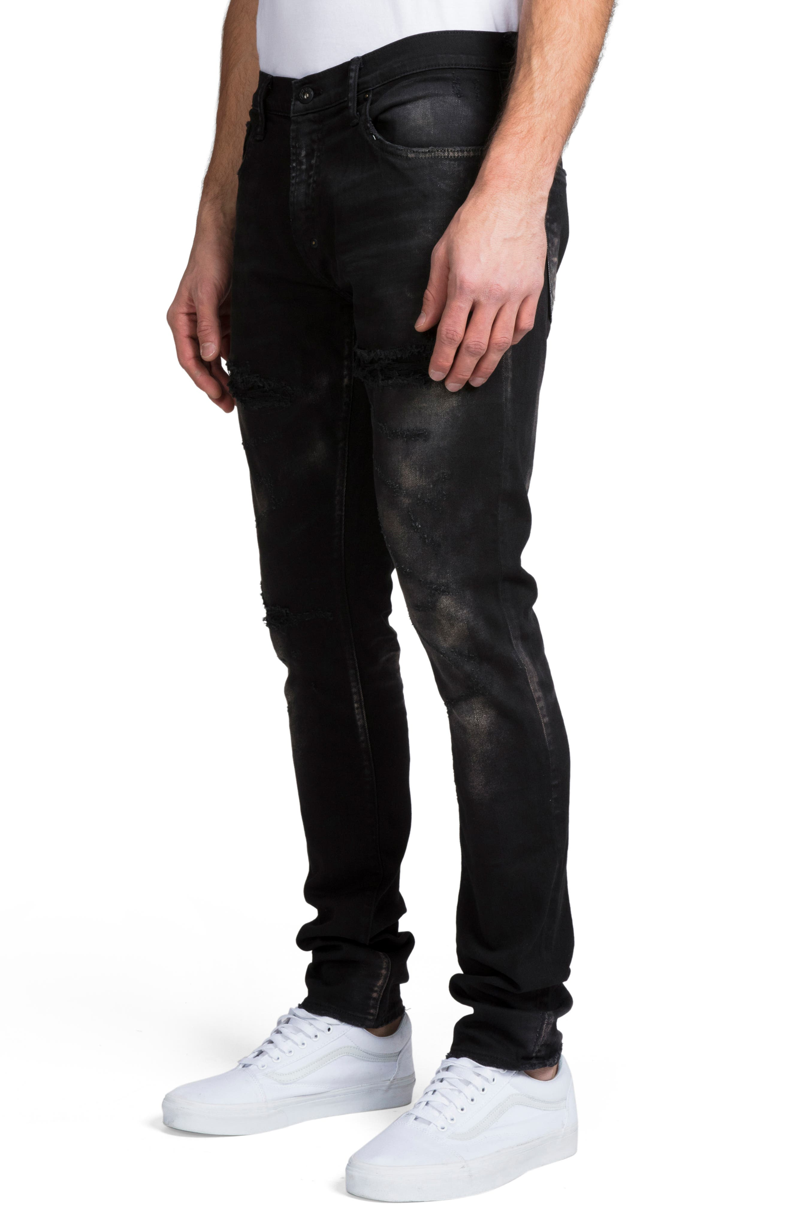 ,                             Windsor Slim Fit Jeans,                             Alternate thumbnail 3, color,                             BLACK
