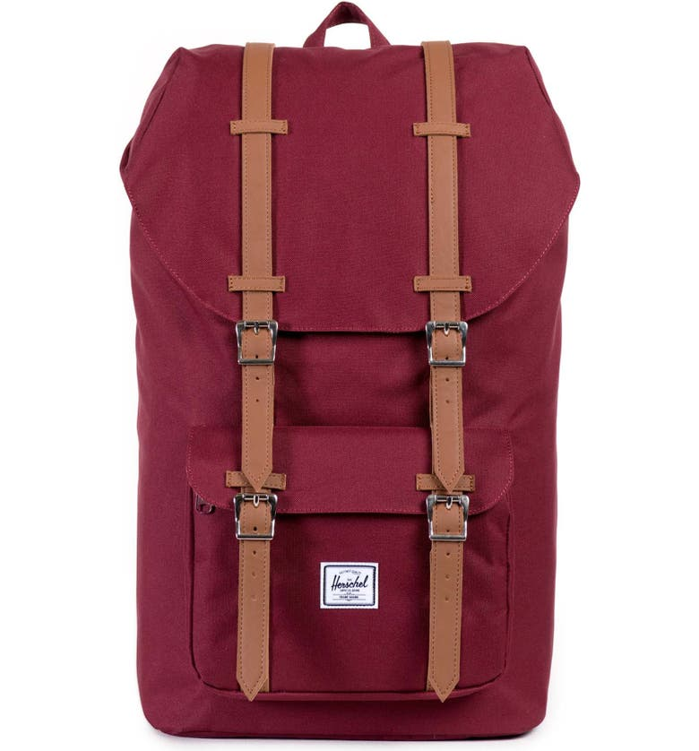 HERSCHEL SUPPLY CO. Little America Backpack, Main, color, WINDSOR WINE/ TAN