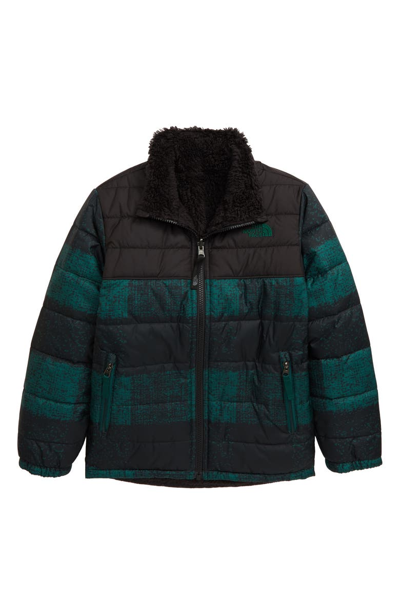 THE NORTH FACE Mount Chimborazo Reversible Jacket, Main, color, NIGHT GREEN BUFF CHECK PRINT