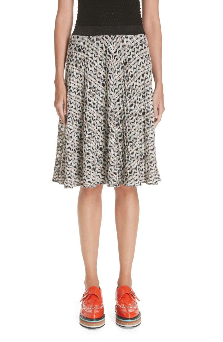 MISSONI Zig Zag A-Line Skirt, Main, color, 100