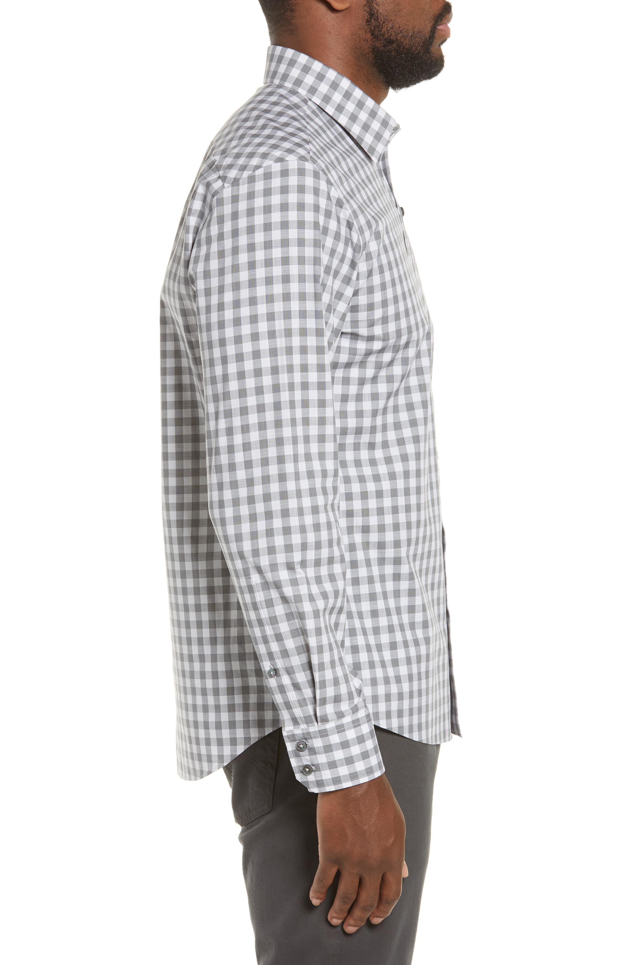 ,                             Schwantes Regular Fit Check Sport Shirt,                             Alternate thumbnail 4, color,                             GREY
