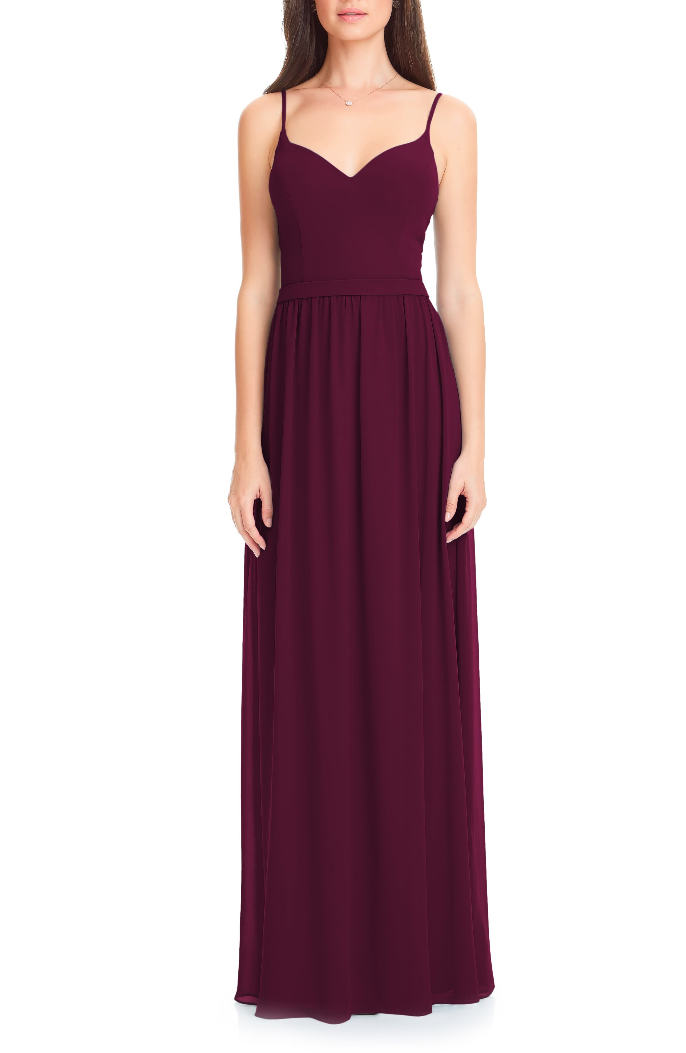 Levkoff Chiffon Gown, Red