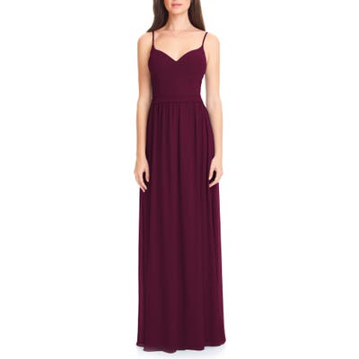 Levkoff Chiffon Gown, Red