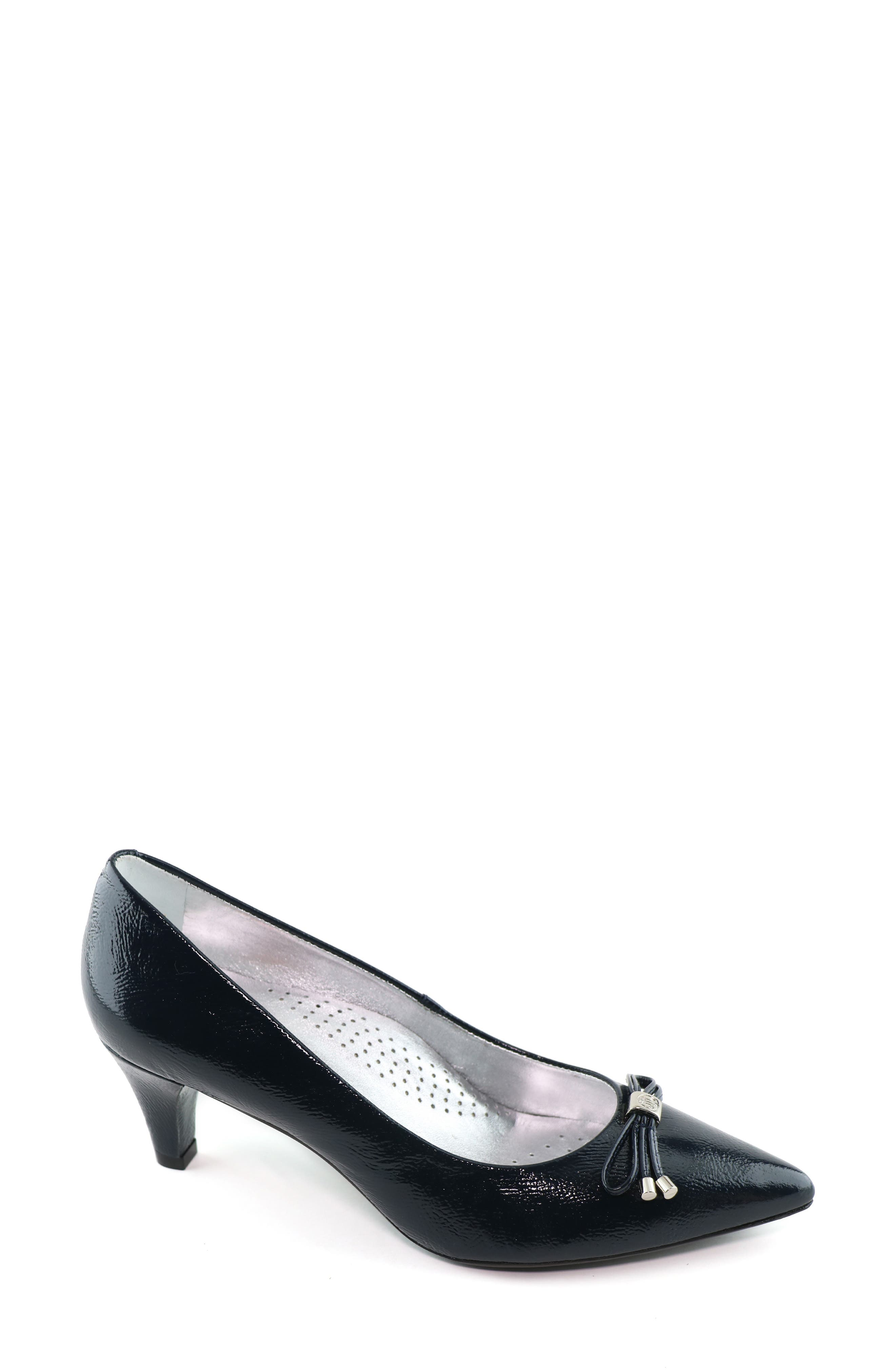 Amazing comfort and chic style combine beautifully on this pointy-toe pump fashioned with a neat bow, tapered heel and cushy, arch-supporting footbed. Style Name: Marc Joseph New York St. Peters Avenue Pump (Women). Style Number: 5977777. Available in stores.