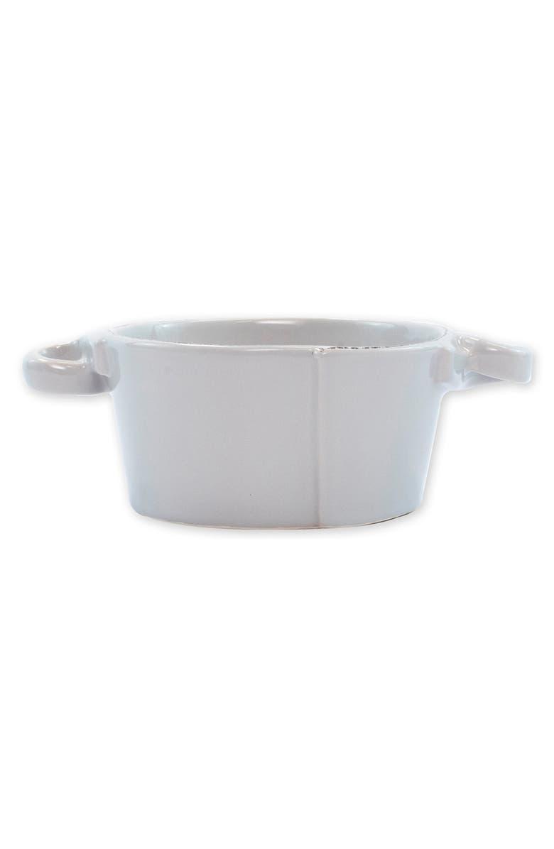 VIETRI Lastra Small Handled Serving Bowl, Main, color, LIGHT GRAY
