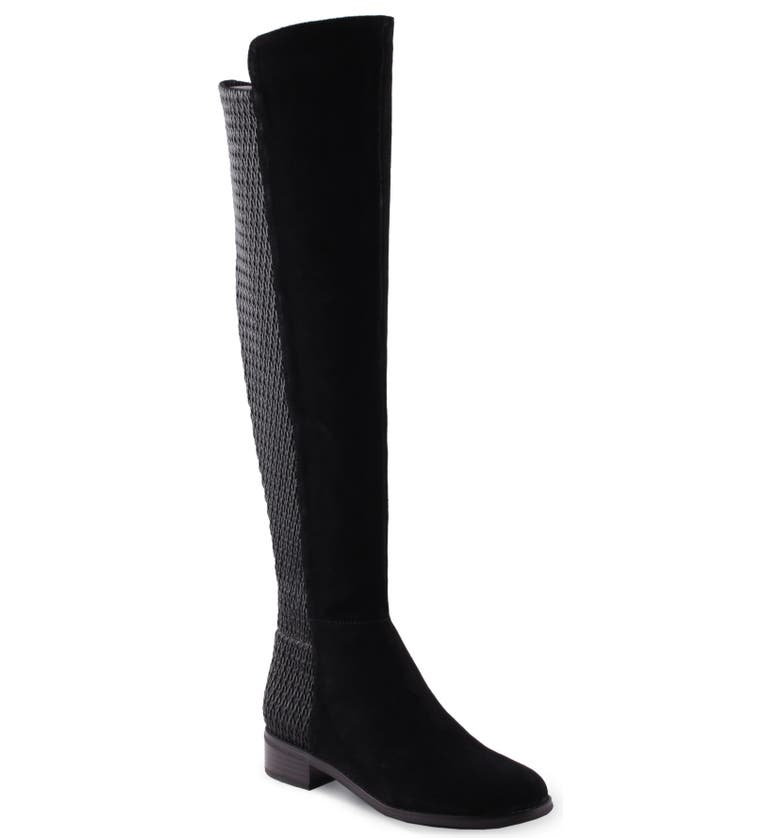 AQUADIVA Misty Water Resistant Boot, Main, color, BLACK SUEDE