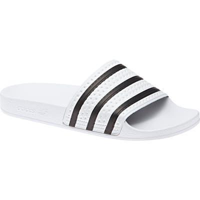 Adidas Adilette Stripe Sport Slide, White