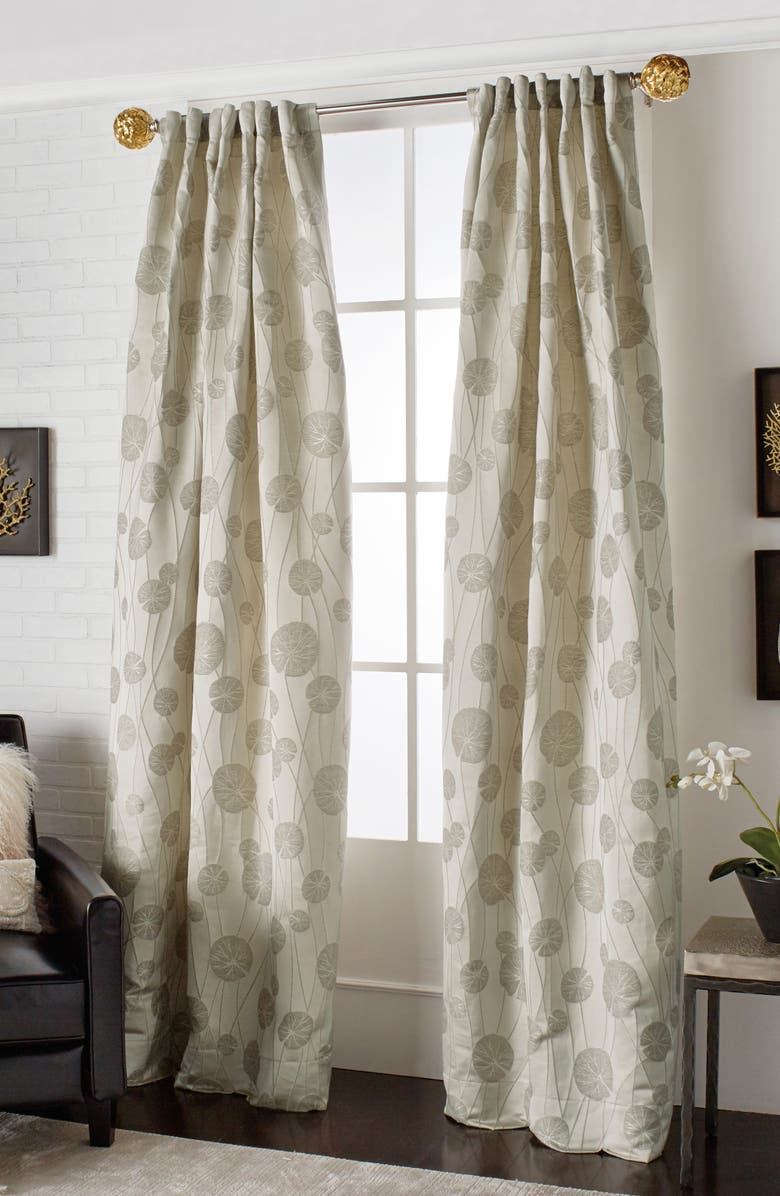 MICHAEL ARAM Lily Pad Back Tab Window Panel, Main, color, CHAMPAGNE