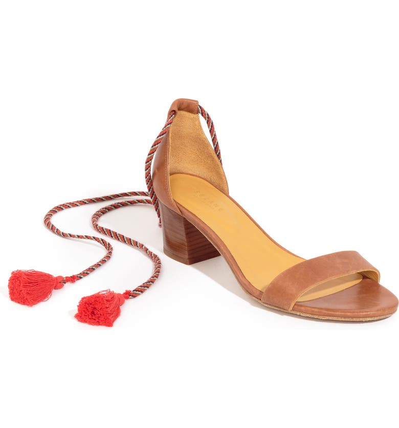 SÉZANE Lorenzo Ankle Wrap Block Heel Sandal, Main, color, 200