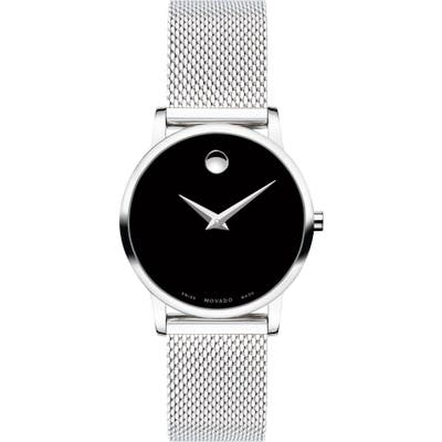 Movado Museum Mesh Strap Watch, 2m