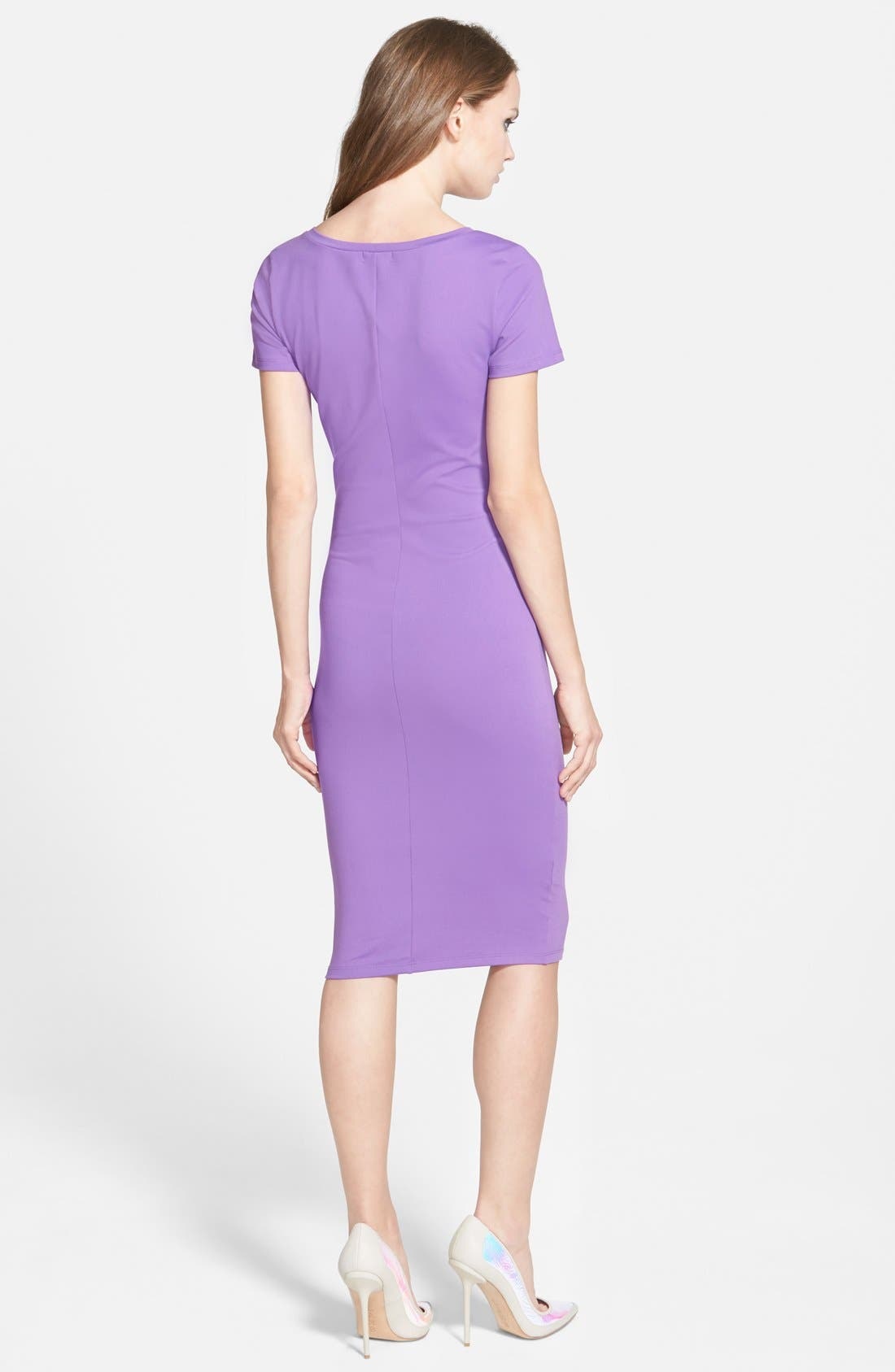 ,                             V-Neck Body-Con Dress,                             Alternate thumbnail 18, color,                             510