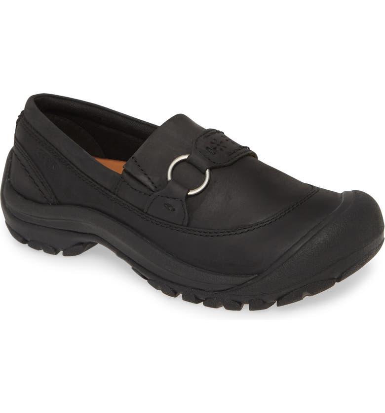 KEEN Kaci III Loafer, Main, color, BLACK/ BLACK FAUX LEATHER
