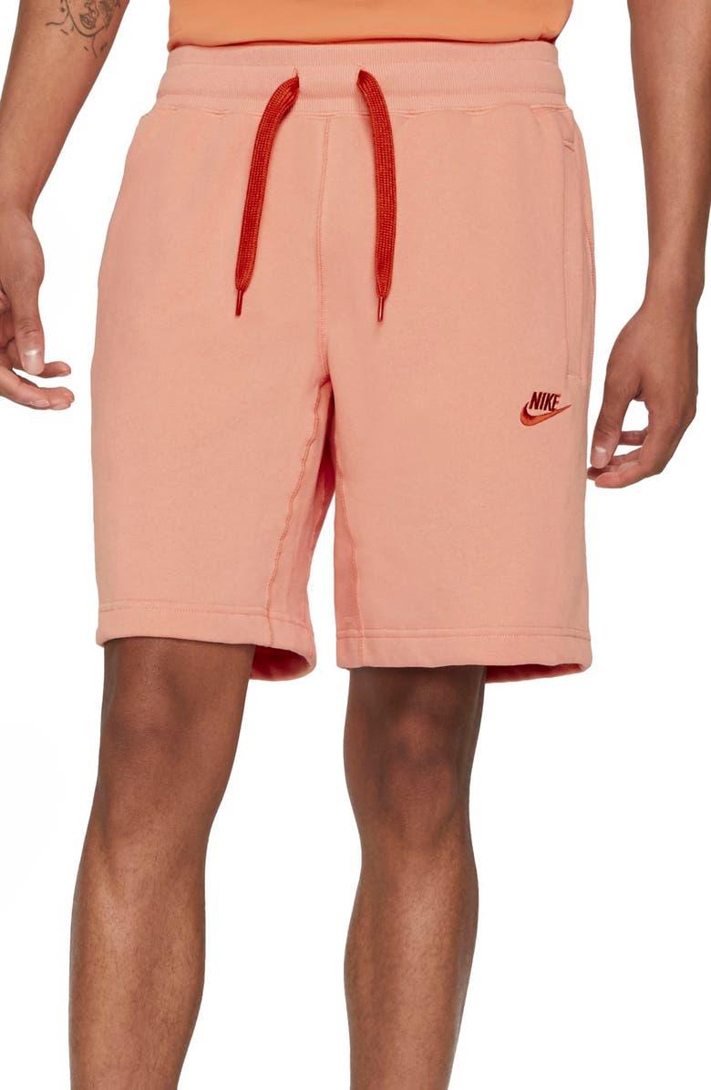 NIKE Sportswear Classic Shorts, Main, color, APRICOT AGATE/ LIGHT SIENNA