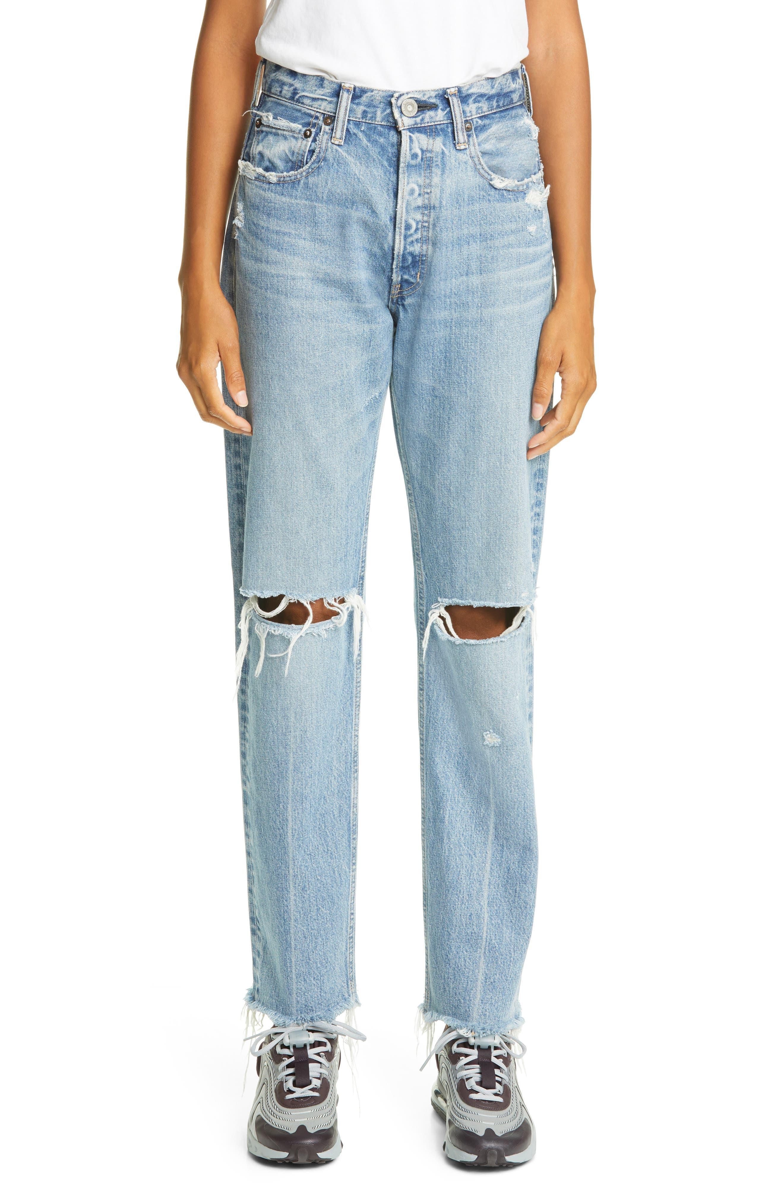 Viola Ripped Straight Leg Jeans