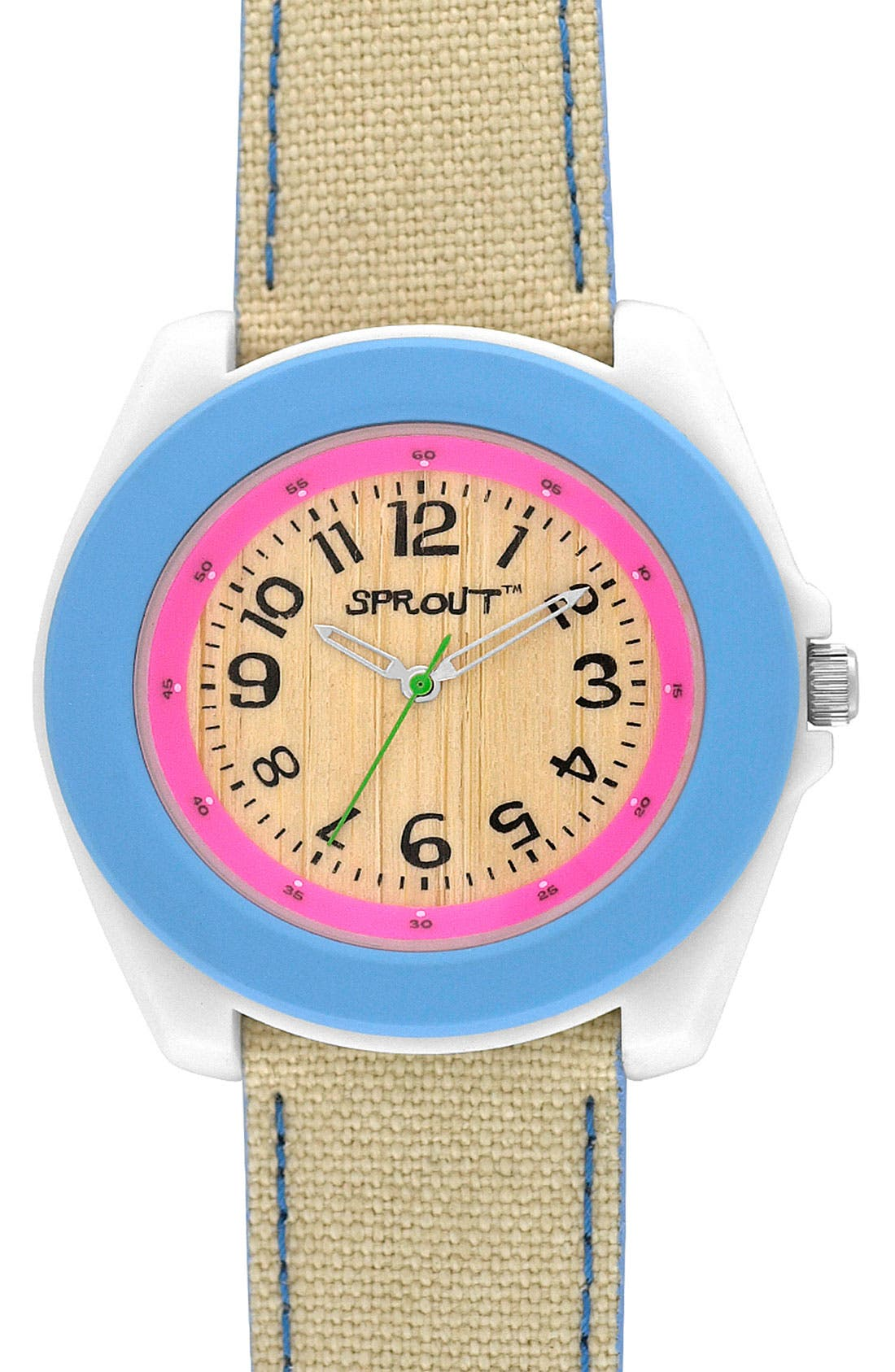 ,                             Organic Round Case Watch,                             Main thumbnail 6, color,                             900
