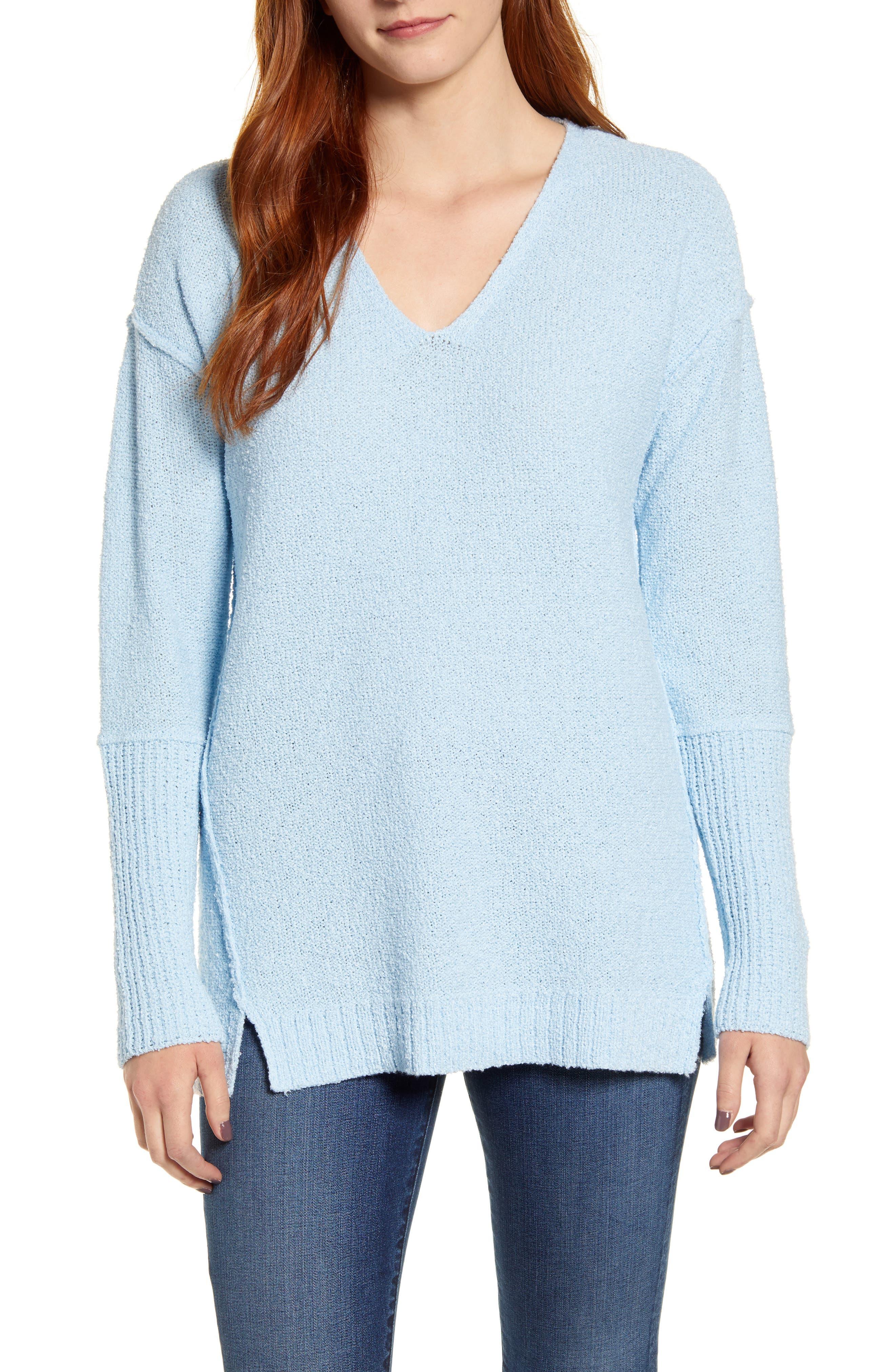 Caslon® Bouclé Tunic Sweater (Regular & Petite)