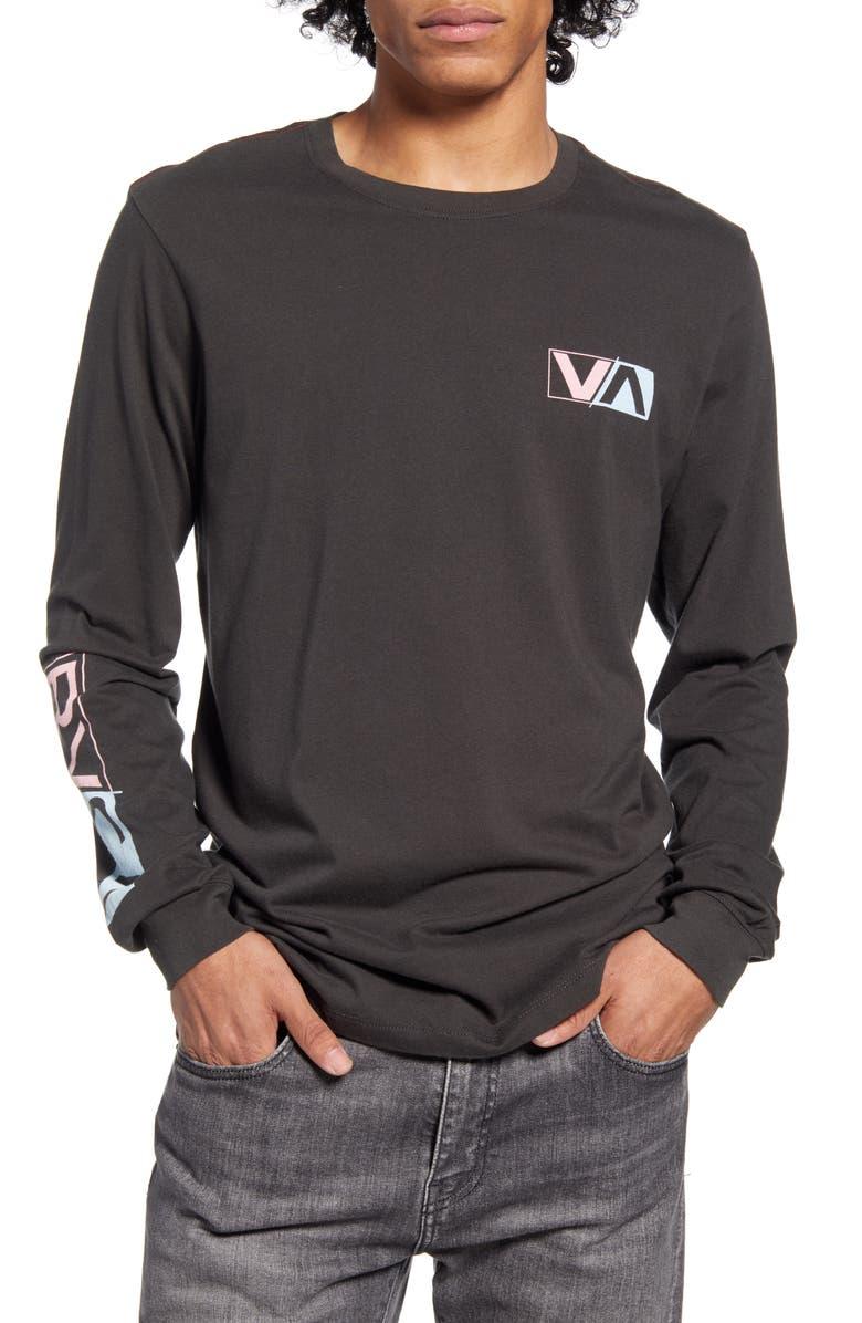 RVCA Lateral Long Sleeve T-Shirt, Main, color, 008