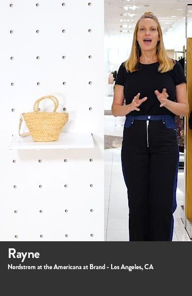 Rhodes Mini Straw Tote Bag, sales video thumbnail