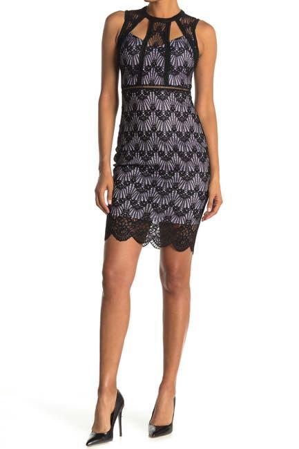 Image of GUESS Geo Lace Sheath Dress
