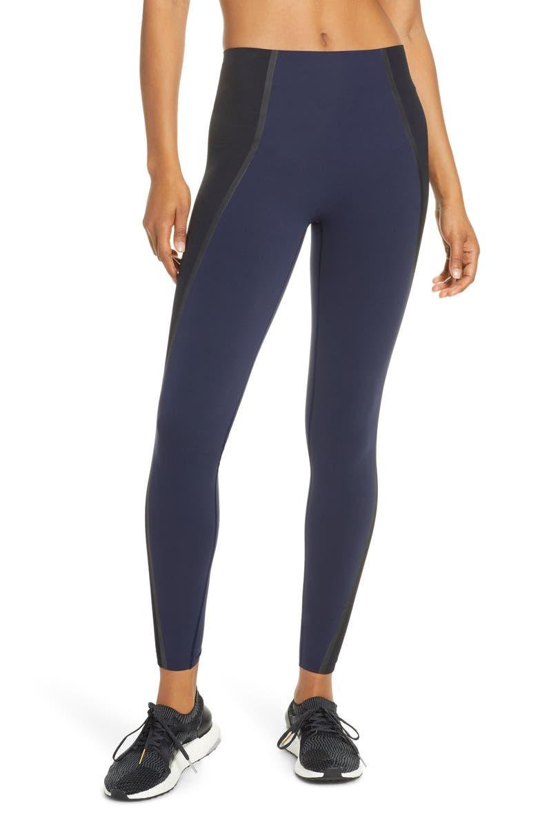 SPANX<SUP>®</SUP> Spanx Mesh Contour Active Leggings, Main, color, LAPIS NIGHT
