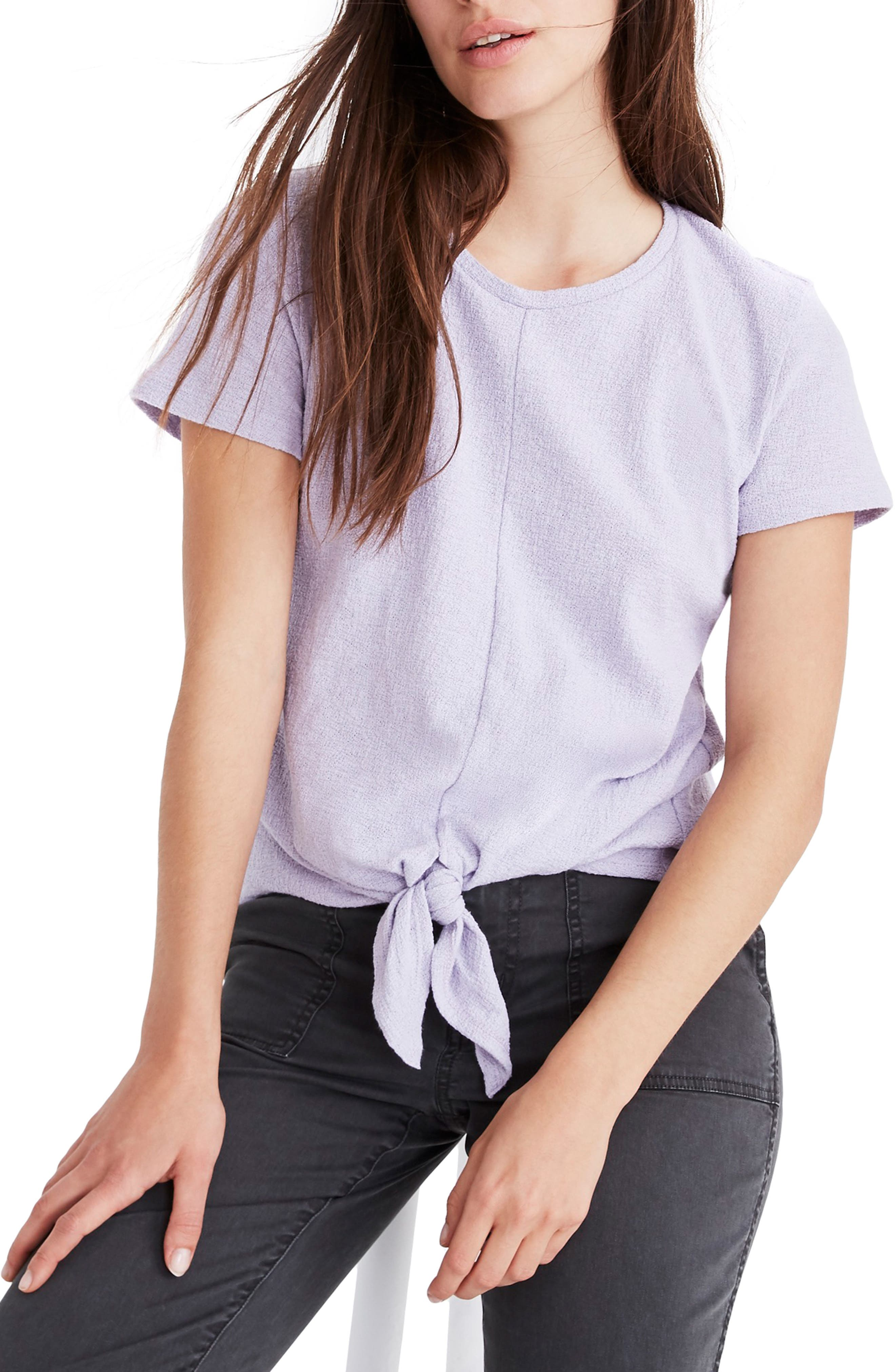 ,                             Modern Tie Front Tee,                             Main thumbnail 6, color,                             502