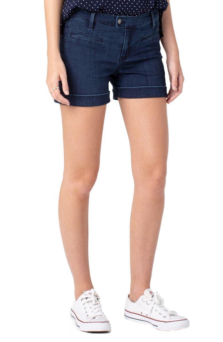 LIVERPOOL Denim Trouser Shorts, Main, color, 403