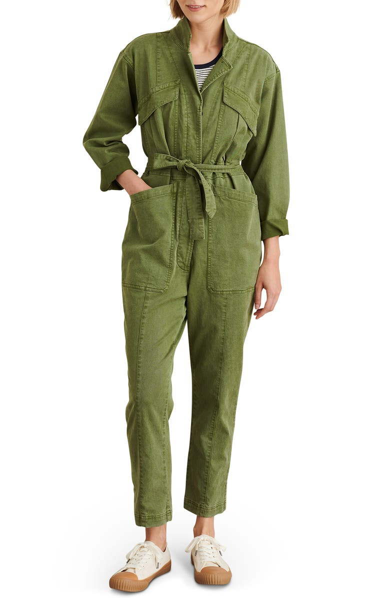 ALEX MILL Expedition Twill Jumpsuit, Main, color, ARMY OLIVE