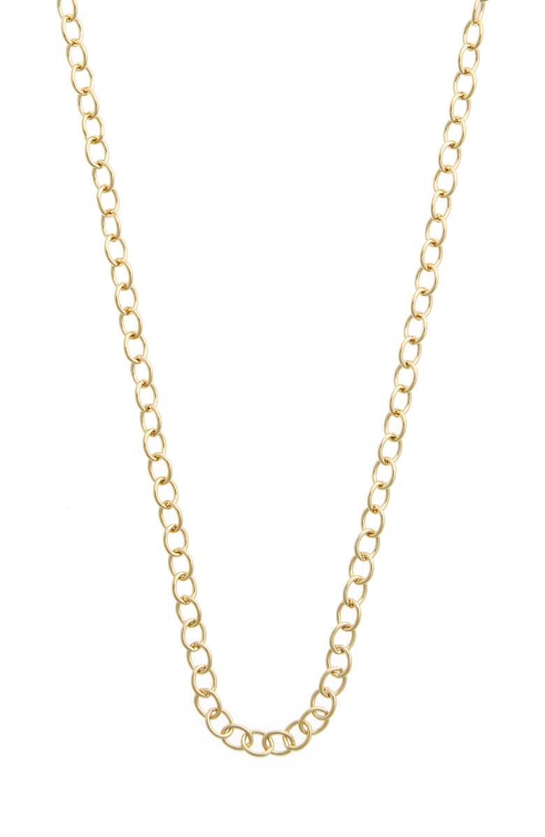 TEMPLE ST. CLAIR 18-Inch Oval Chain Necklace, Main, color, YELLOW GOLD
