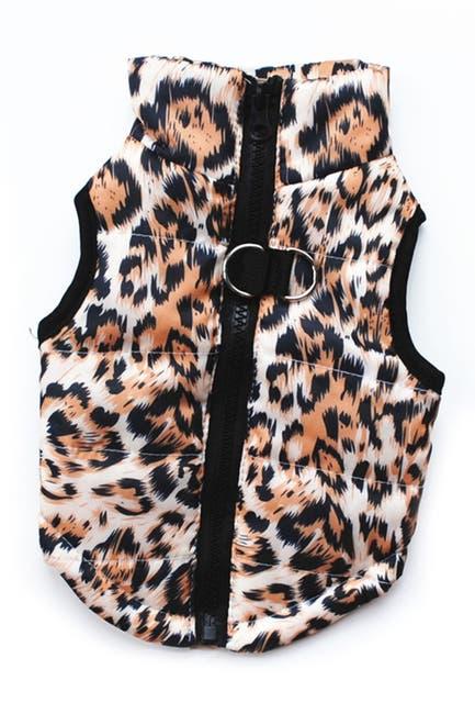Image of Dogs of Glamour Medium Gold Leopard Vest