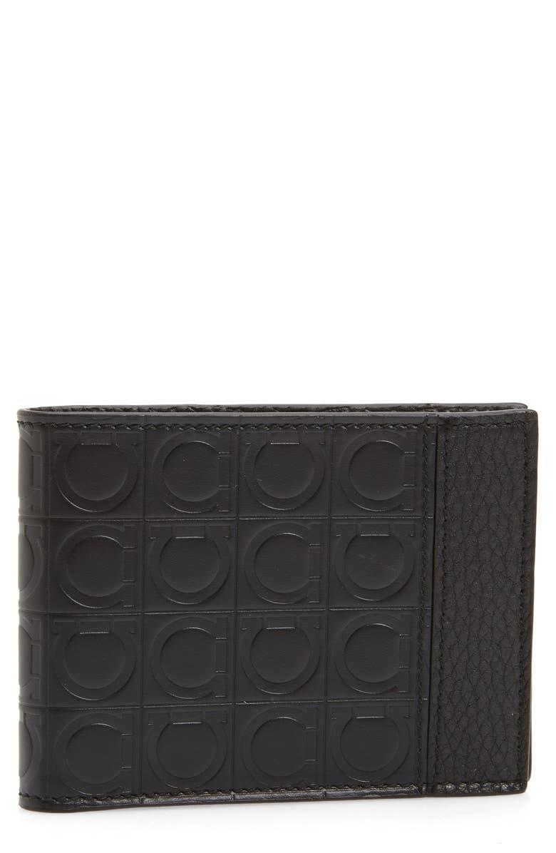SALVATORE FERRAGAMO Firenze Gamma Leather Wallet, Main, color, 001