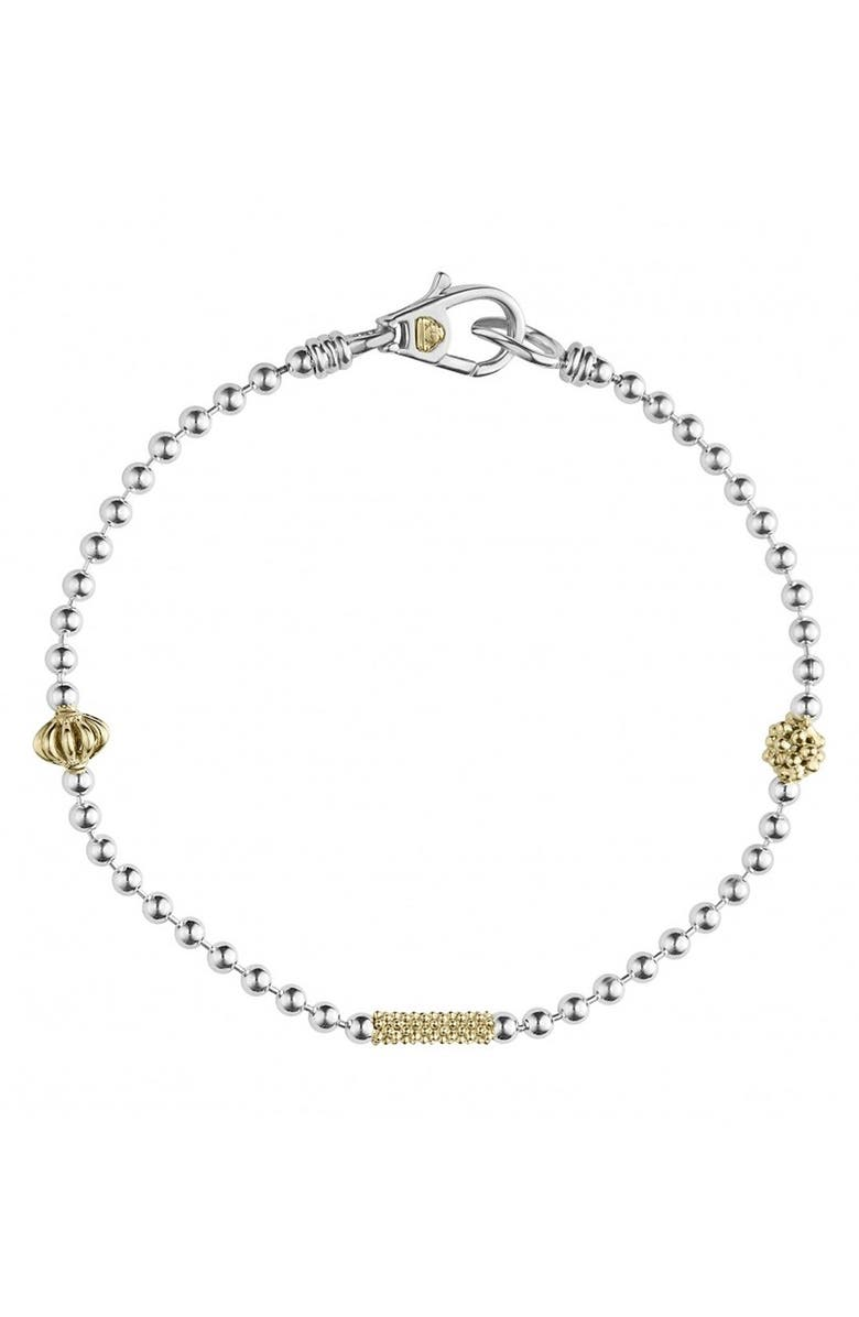 LAGOS Caviar Icon Single Strand Bracelet, Main, color, SILVER