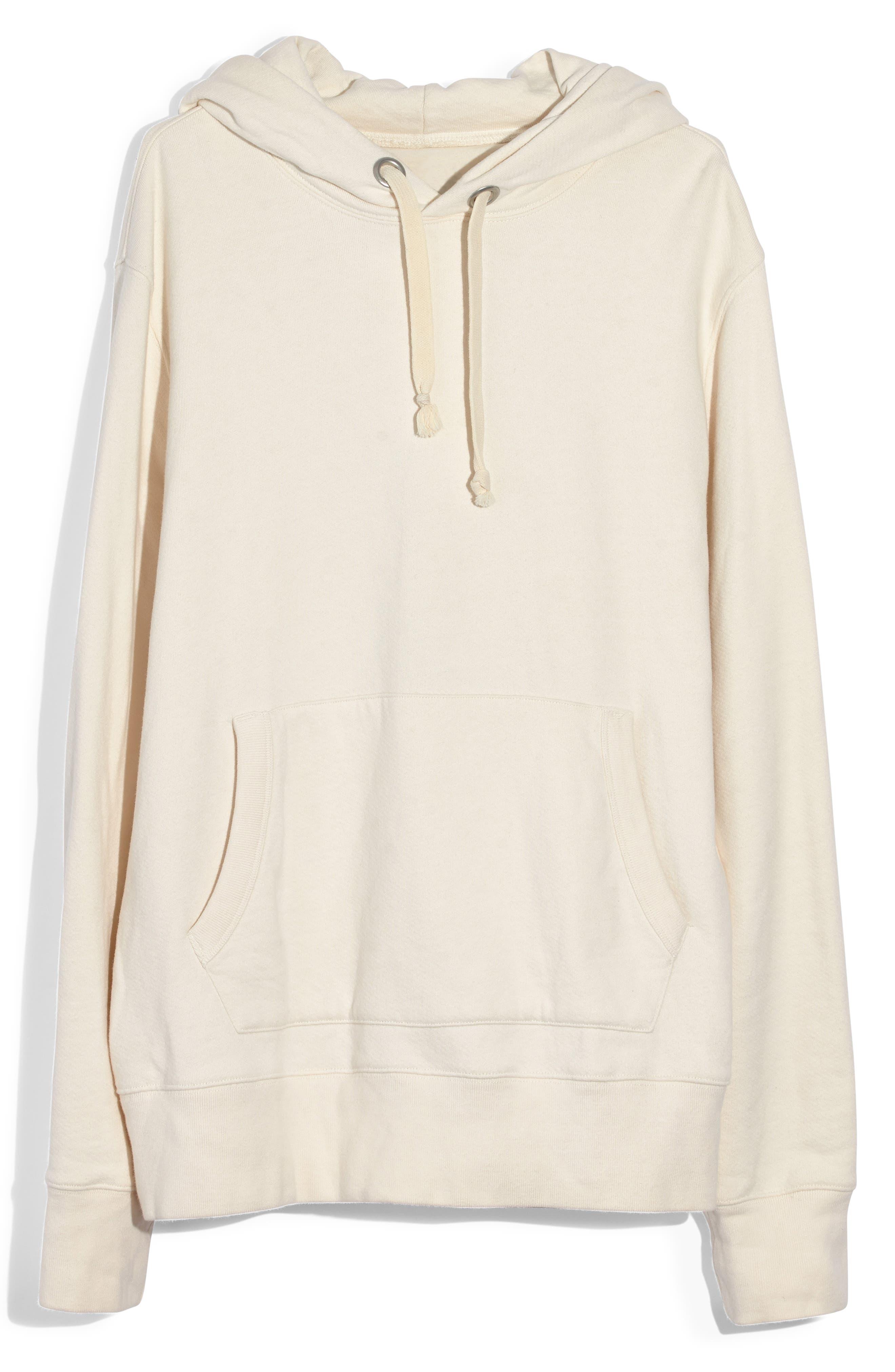 ,                             Hooded Sweatshirt,                             Alternate thumbnail 5, color,                             PEARL IVORY