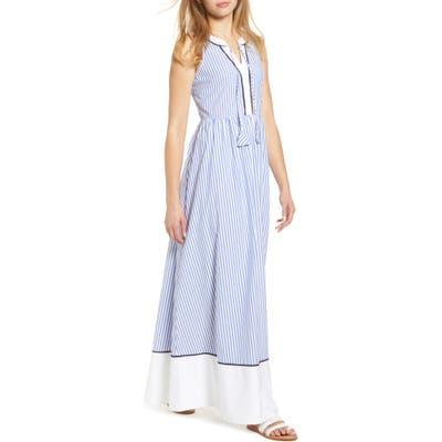 Vineyard Vines Grier Stripe Sleeveless Maxi Dress, Blue