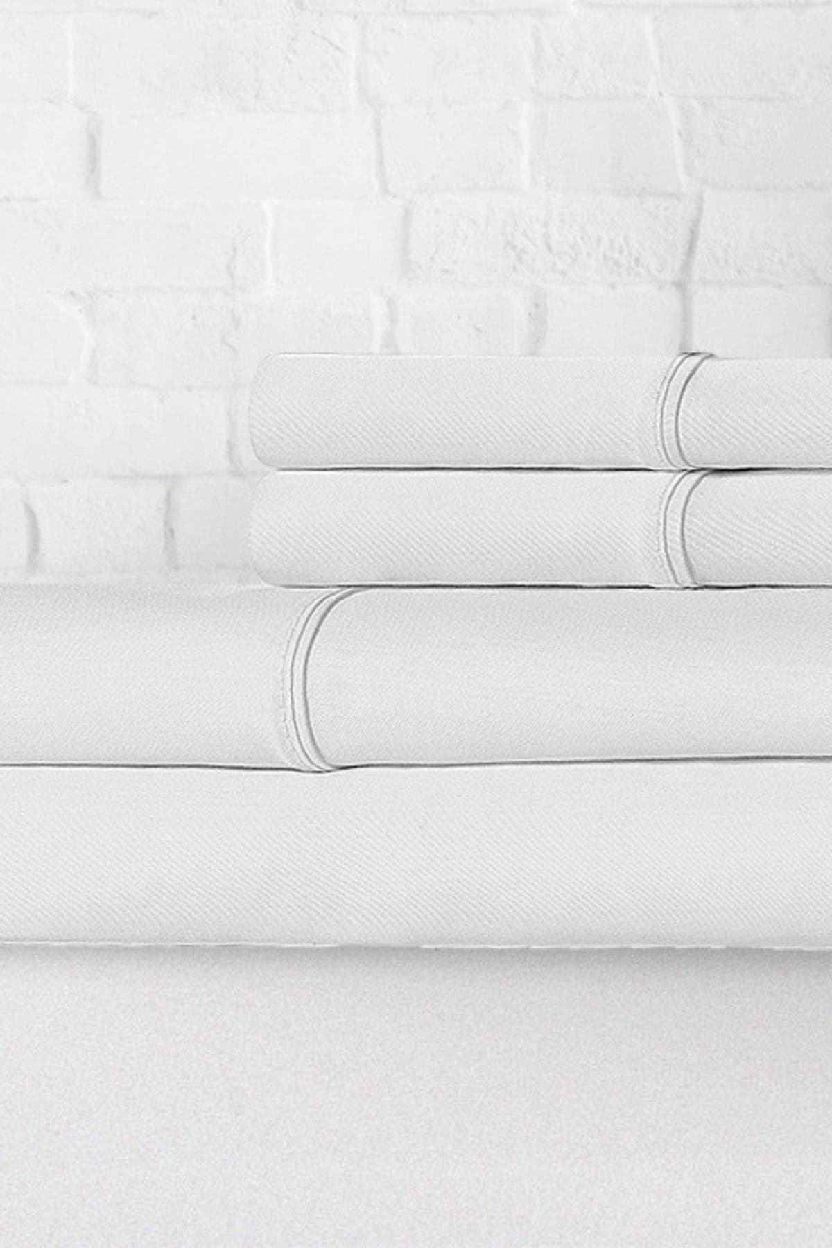 Image of Ella Jayne Percale 300 Thread Count 4-Piece Sheet Set - White - Cal King