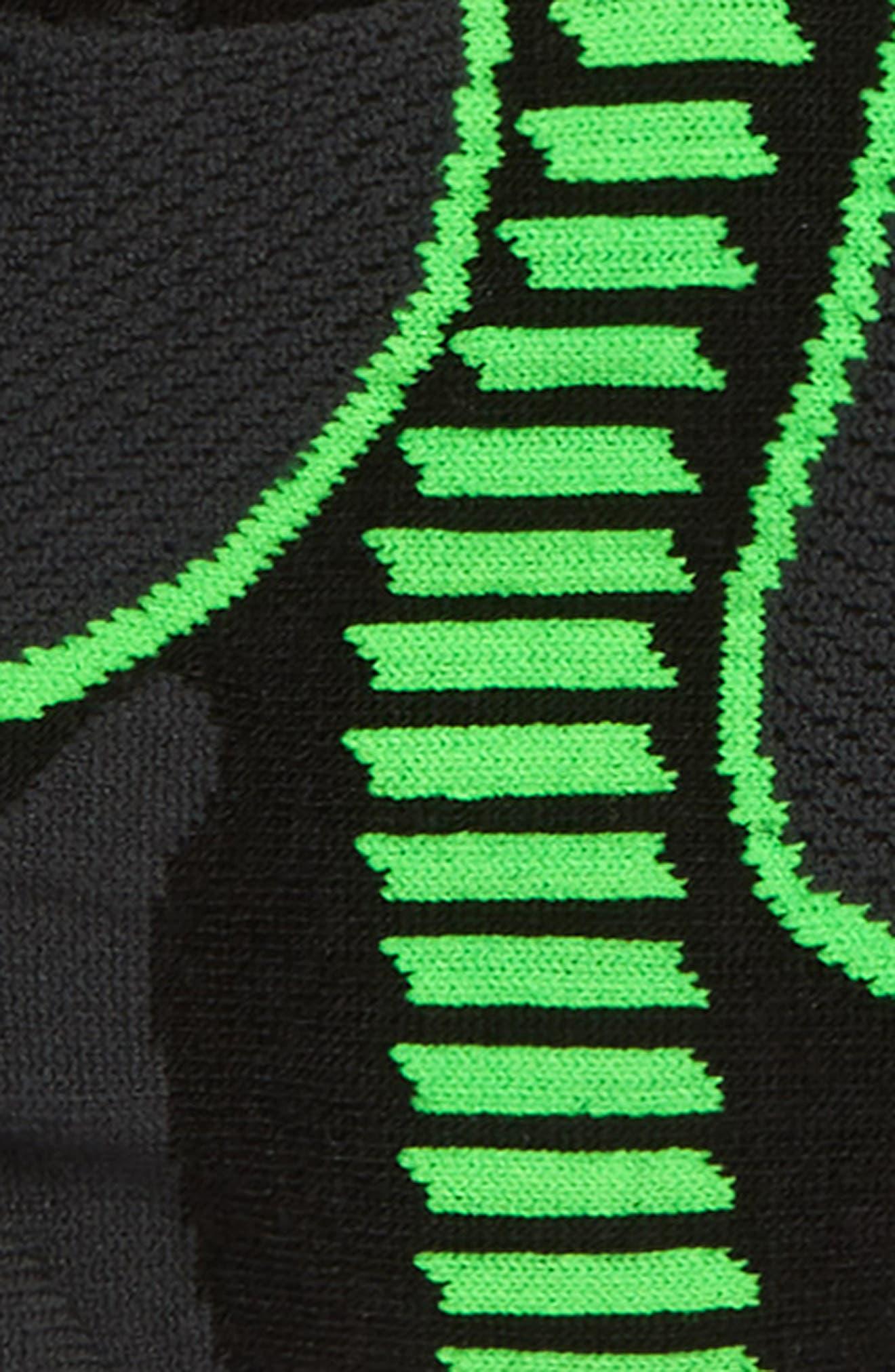,                             Ultralight No-Show Socks,                             Alternate thumbnail 2, color,                             BLACK/ LIME