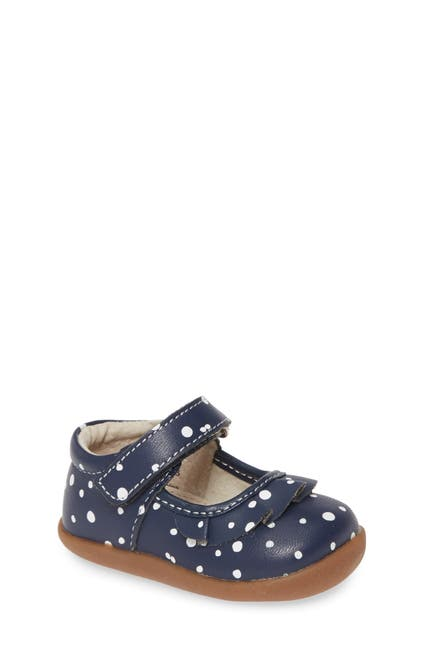 Image of See Kai Run Belle Polka Dot Leather Mary Jane Flat