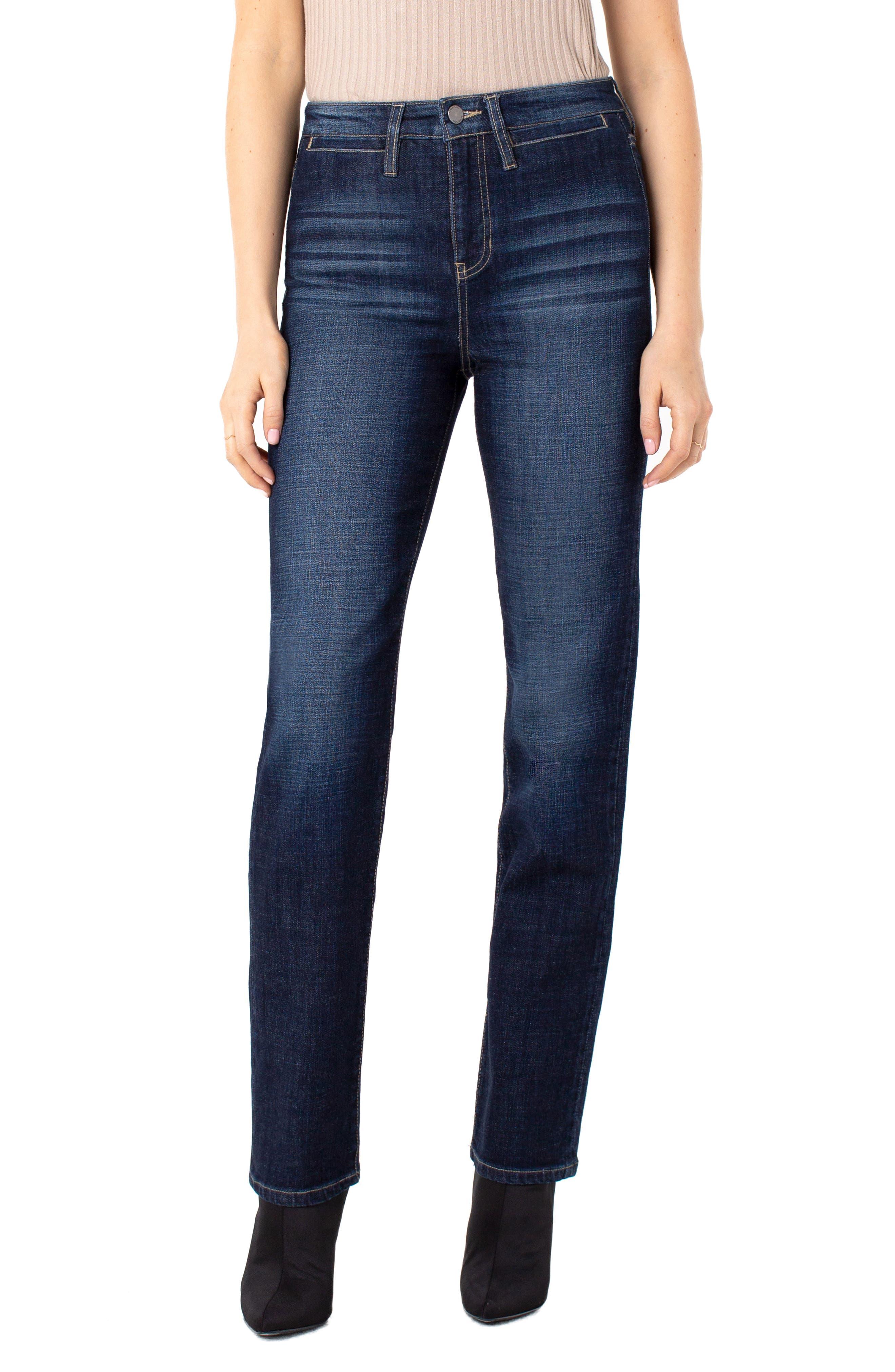 Women's Liverpool Sadie Welt Pocket High Waist Straight Leg Jeans